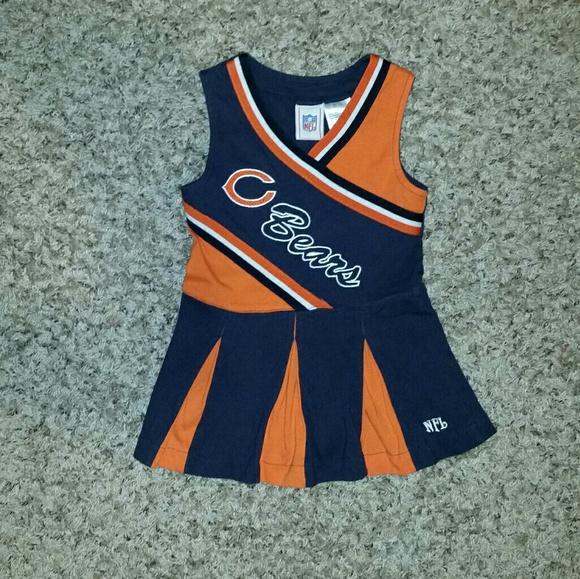 buy online 820ae 12aca Toddler Girls Chicago Bears Cheerleader Dress